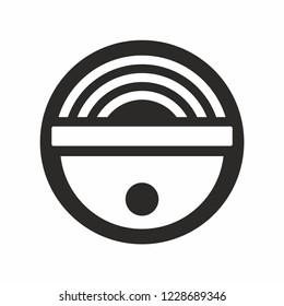 Security camera logo icon vector