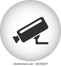 Security camera sign simple icon on  background