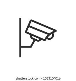 Security camera simple line vector icon