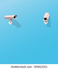 Security camera watching another security camera