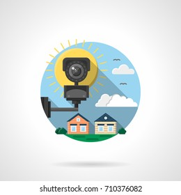 Security cctv color detailed vector icon