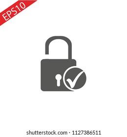 Security Check Lock Icon Logo Design Element.eps 10.