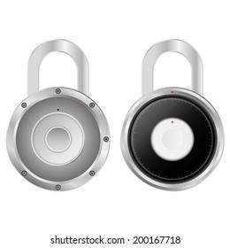 Security Combination Padlock Vector