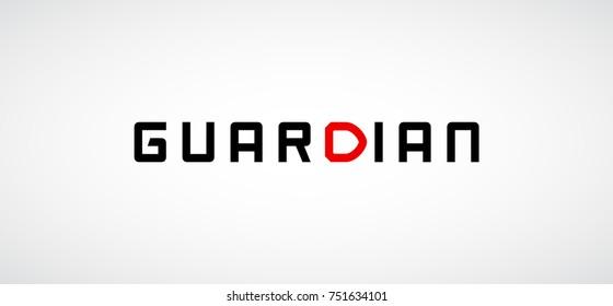 Security company logo ready to use. Abstract symbol of security. Shield logo. Shield icon. Security logo. Guardian text Logo