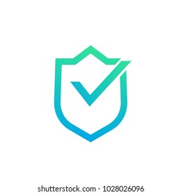 security concept, shield with checkmark vector