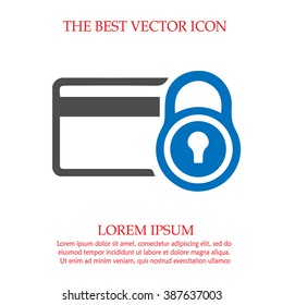 Security credit card simple isolated vector icon.
