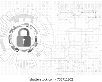 Security cyber background.