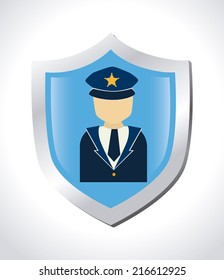 Security design over white background, vector illustration
