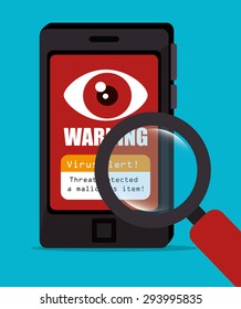 Security digital design, vector illustration.