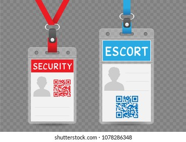 id card template plastic badge vertical stock vector royalty free