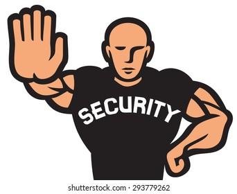 security guard of nightclub (bouncer)