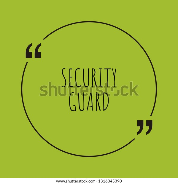Security Guard Word Concept Security Guard Stock Vector (Royalty