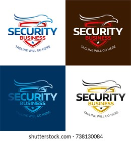 Security Hawk Logo and Icon - Vector Illustration