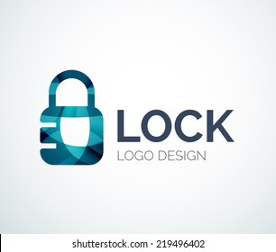 Security icon, Lock logo, absract design