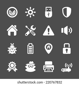 security icon set, vector eps10.