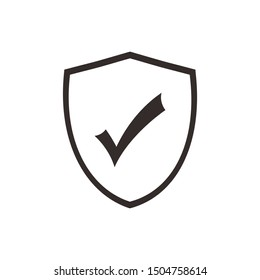Security icon vector illustration. Protect scurity symbol. Shield logo design template