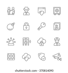 Security icons.