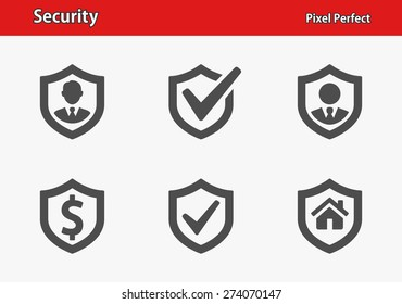 Security Icons. Professional, pixel perfect icons optimized for both large and small resolutions. EPS 8 format.