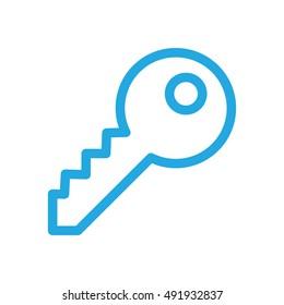 Security Key Icon Adjustable Stroke