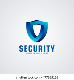 Security Logo 3D available in vector/illustration