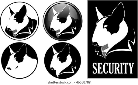 Security logo and button icon