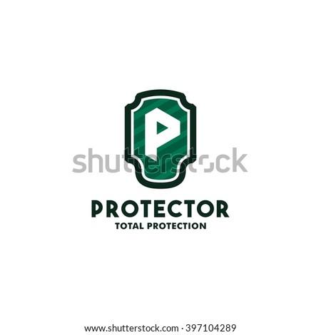 Security Logo Symbol Design Template P Stock Vector Royalty Free