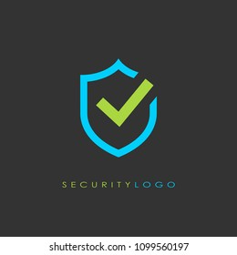 Security logo web vector design illustration isolated on black background