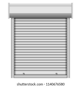 Security louver mockup. Realistic illustration of security louver vector mockup for web design isolated on white background