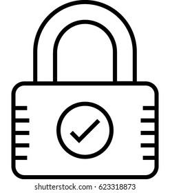 Security Padlock Vector Icon