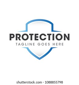 security protection logo icon vector template