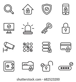 Security And Protections Icons