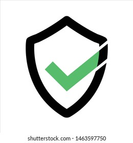 Security shield logo , secure icon