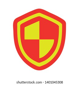 Security Shield protection vector icon. filled flat sign for mobile concept and web design. Protect guard shield glyph icon. Safety symbol, Shield sign icon. Protection symbol.