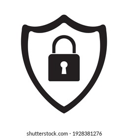 Security symbol, web and computer icon