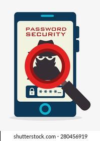 Security system design over white background, vector illustration.