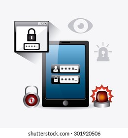 Security system design, vector illustration eps 10.