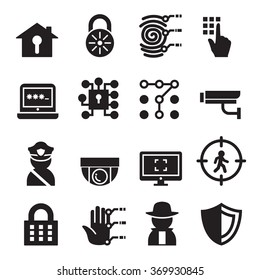 Security system icon set