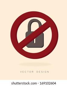 security system over pink  background vector illustration