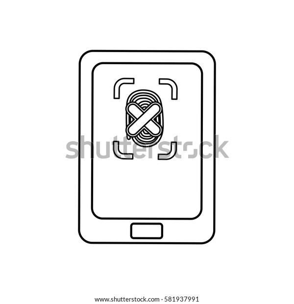 Security system technology modem icon vector ilustration