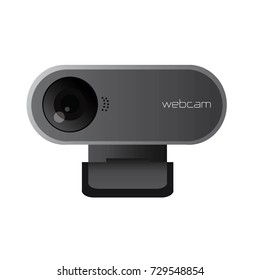 Security and technology concept - webcam Vector illustration isolated on white background