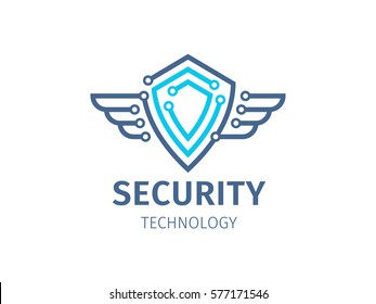 Security technology - logo, icon on white background
