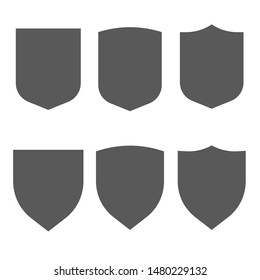 Security vector assurance contour gray icons isolated on white background set.  Safeguard simple signs.
