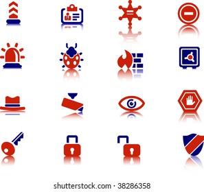 Security vector icons series.