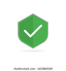 Security vector icon.Vector isolated illustration. Security checkmark.