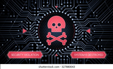 Security Violation - Infographical Concept. Graphic design on the theme of Cyber-Security Technology.