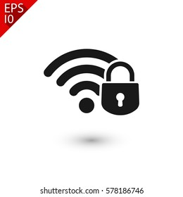 security wifi  icon. One of set web icons