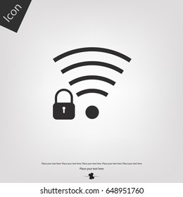 Security wifi vector icon