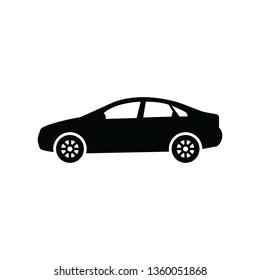 Sedan car icon vector