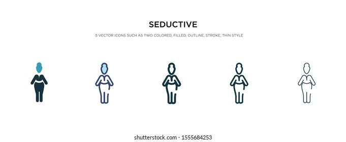 seductive icon in different style vector illustration. two colored and black seductive vector icons designed in filled, outline, line and stroke style can be used for web, mobile, ui