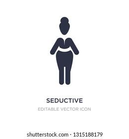 seductive icon on white background. Simple element illustration from People concept. seductive icon symbol design.